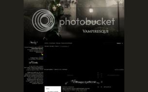 Скриншот сайта Vampiresque