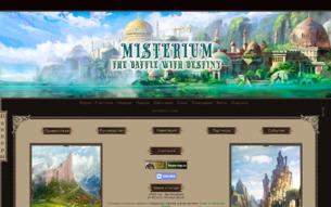 Скриншот сайта Мистериум - схватка с судьбой