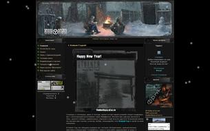 Скриншот сайта S.T.A.L.K.E.R. - новая война