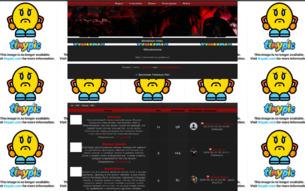 Скриншот сайта Хроники темных лет