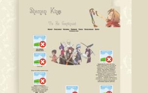 Скриншот сайта Shaman King: to be continued