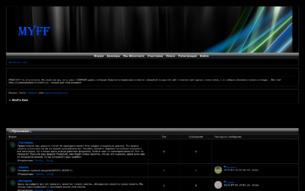 Скриншот сайта Wolf's rain