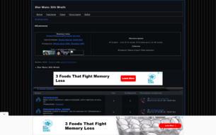 Скриншот сайта Звездные войны: ярость ситхов - ролевая игра