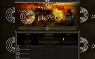 Скриншот сайта Starcraft game