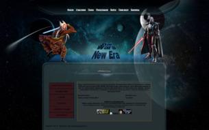 Скриншот сайта Звездные войны - новая эра