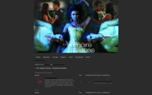 Скриншот сайта The Vampire Diaries