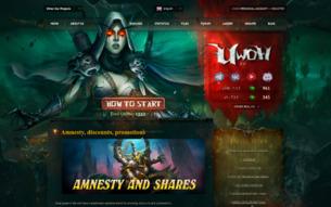Скриншот сайта Uwow