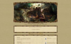 Скриншот сайта Vampire academy