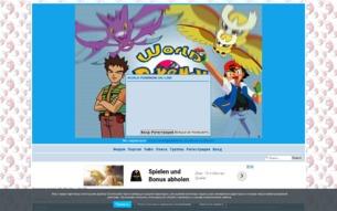 Скриншот сайта World Pokemon
