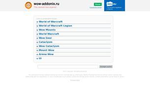 Скриншот сайта WoW Addonix