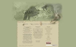 Скриншот сайта Game of Thrones: you win or you die