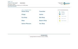 Скриншот сайта Frostfan 2.4.3