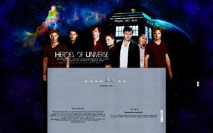 Скриншот сайта Heroes of universe