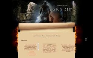 Скриншот сайта FRPG Skyrim
