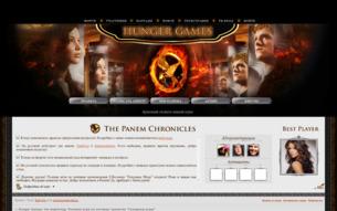 Скриншот сайта Hunger games: the beginning
