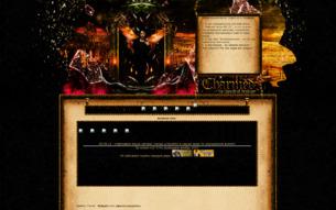 Скриншот сайта Зачарованные - нити судьбы