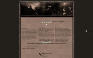 Скриншот сайта Hogwarts: time of the ghosts