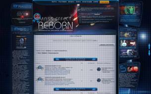 Скриншот сайта Mass Effect. Возрождение