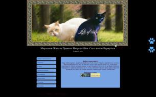 Скриншот сайта Life of cats