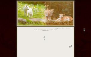 Скриншот сайта Country of wolves. Волчье графство
