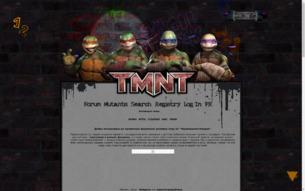 Скриншот сайта TMNT: Shell Shock