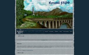 Скриншот сайта Cyrodiil FRPG