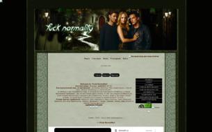 Скриншот сайта Fuck normality
