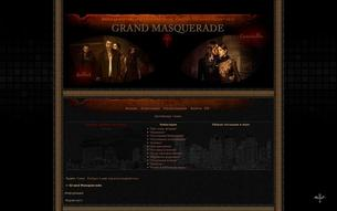 Скриншот сайта Grand Masquerade