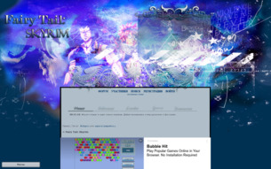 Скриншот сайта Fairy Tail: Skyrim