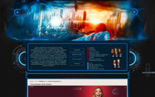 Скриншот сайта The Avengers: dark century