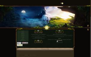Скриншот сайта Nevernight. Legends of the island