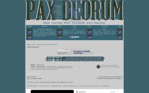 Скриншот сайта Cabal: pax deorum