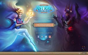 Скриншот сайта Astral Heroes - коллекционная карточная игра онлайн.