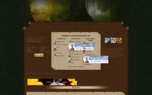 Скриншот сайта Древние коты-воители