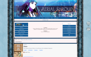 Скриншот сайта Aerial shroud