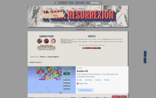 Скриншот сайта X-Men: resurrexion