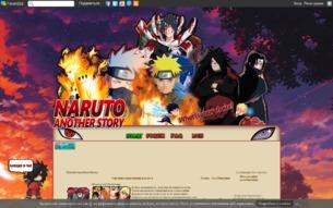 Скриншот сайта Narutoanotherstory