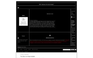 """Скриншот сайта Ролевая игра """"Бэтмен:Тёмный Рыцарь"""""""
