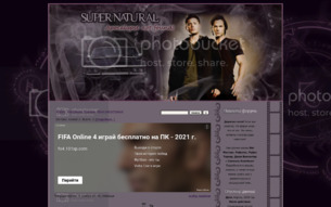Скриншот сайта Supernatural: apocalypse not found!