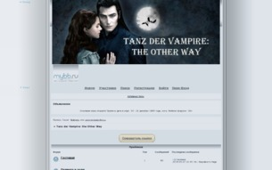 Скриншот сайта Tanz der vampire: the other way