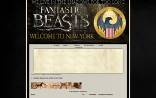 Скриншот сайта Fantastic Beasts and where to find them