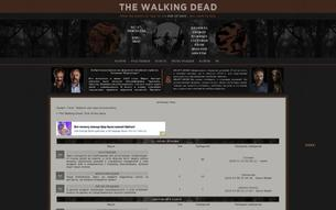 Скриншот сайта The Walking Dead: end of the days
