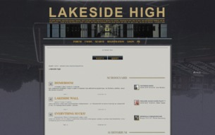 Скриншот сайта Lakeside high