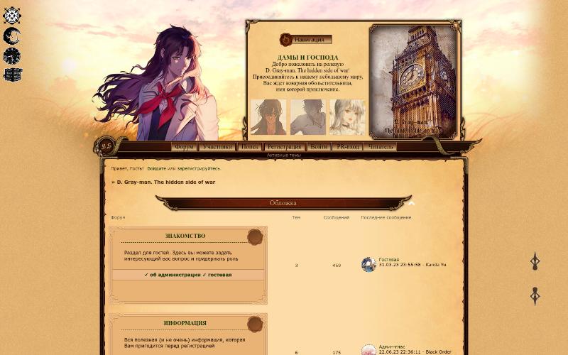 Ролевая игра d gray man экшн ролевая онлайн игра